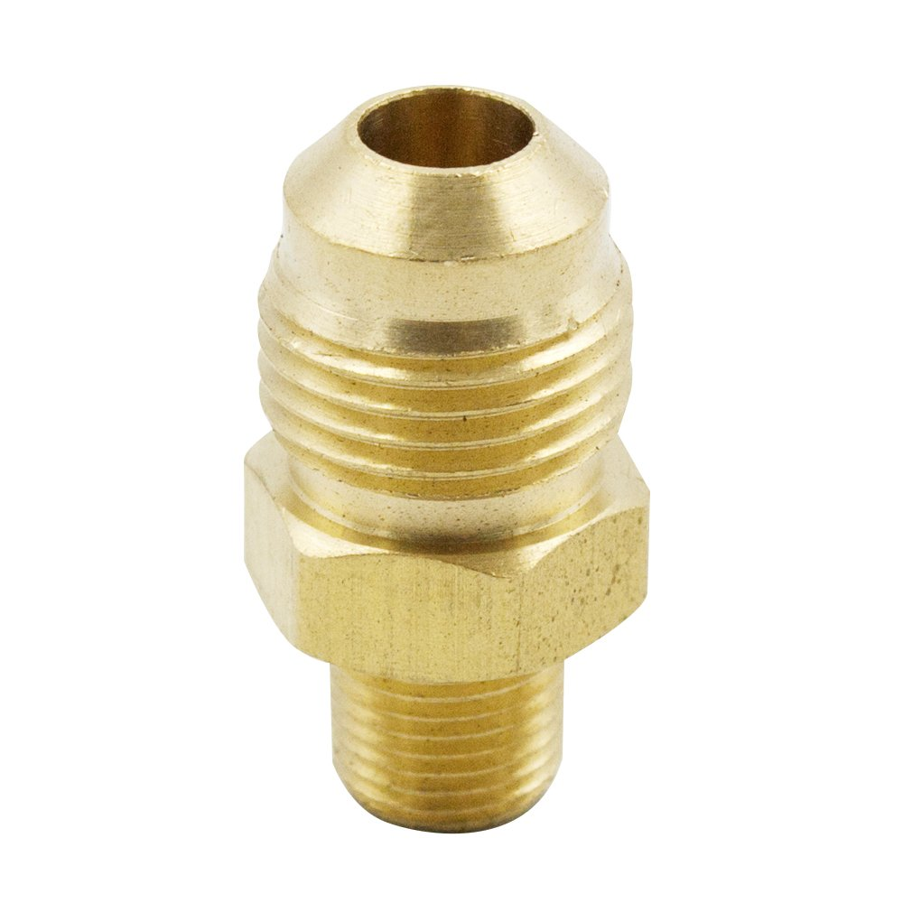 Vis Brass SAE 45 Degree Flare Tube Fitting, Half-Union, Male Connector, 3/4'' Flare x 1/2'' NPT Male (Pack of 200)