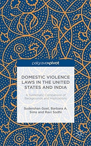Domestic Violence Laws in the United States and India: A Systematic Comparison of Backgrounds and Implications by Sudershan Goel (2014-09-03)