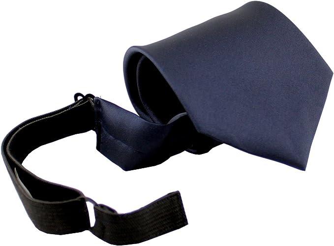 ADAMANT Sicherheitskrawatte mit Zip Rei/ßverschluss Krawatte schwarz Security mit Sollbruchstelle Gr/ö/ße 36-55