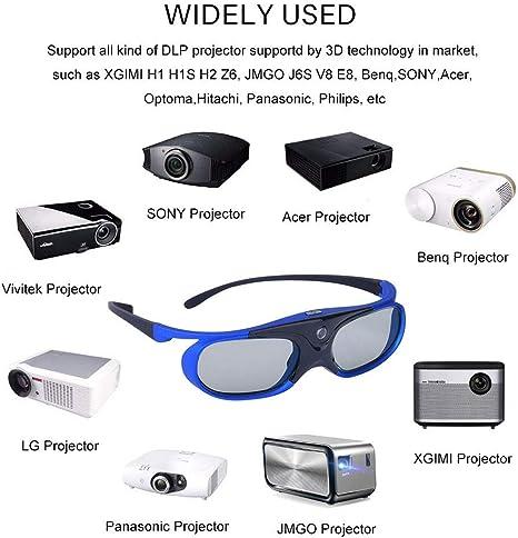 Gafas 3D Gafas 3D Obturador Activo con Batería para Xgimi H1 H2 ...