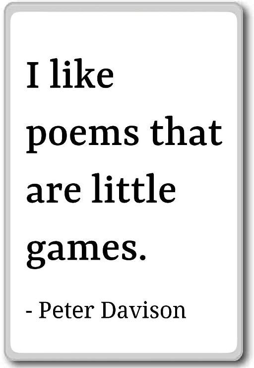 Imán para nevera con cita de Peter Davison con texto en inglés