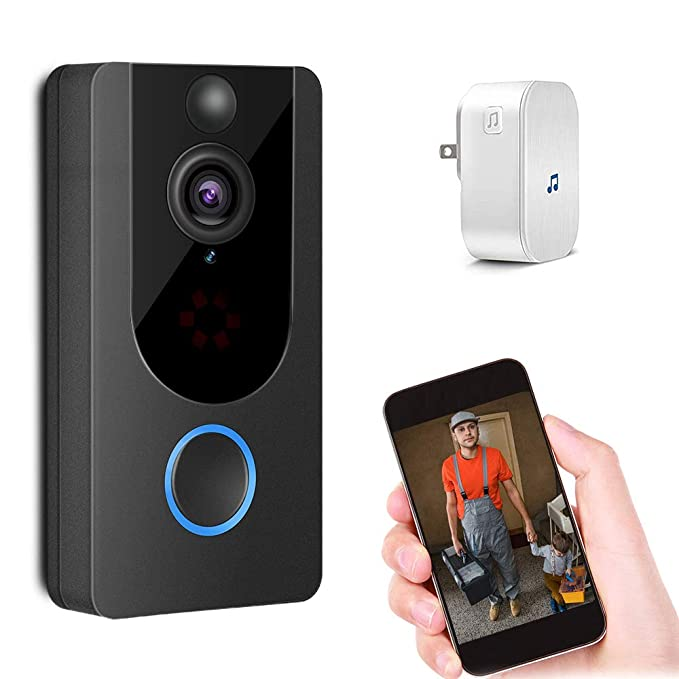 Amazon.com: Smart Video Door Bell Wireless 1080P Doorbell ...