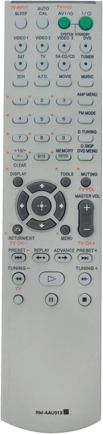 RM-AAU013 Replacement Remote Control fit for Sony Home Theater System HT-DDW790 STR-DG510 HT-DDW795 HT-DDW685 HTDDW790 STRDG510 HTDDW795 HTDDW685