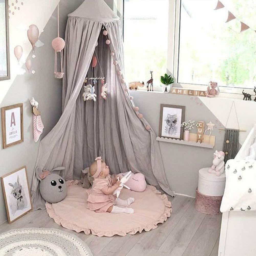 Wohnzimmer Rose Durchmesser: 100 cm f/ür Schlafzimmer weich einfarbig Zuhause Acups Krabbelmatte//Krabbelmatte