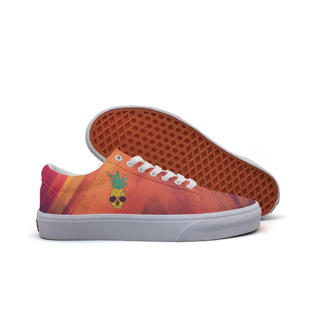 SKULL-cool pineapple skull with sunglass mens comfortable sneakers for men