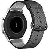 Fintie Gear Frontier / S3 Classic Armband - Premium Nylon UhrBand Uhrenarmband Ersatzband Replacement für Samsung Gear S3 Frontier / S3 Classic Smart Watch, Schwarz