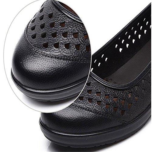 zapatos fondo blando Negro sandalias con Mama sandalias 71pwqx1g