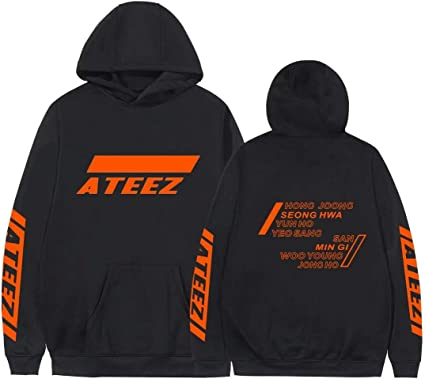Xkpopfans Kpop ATEEZ Hoodie Wooyoung San Mingi Yeosang Pullover Hooded Sweater Jacket