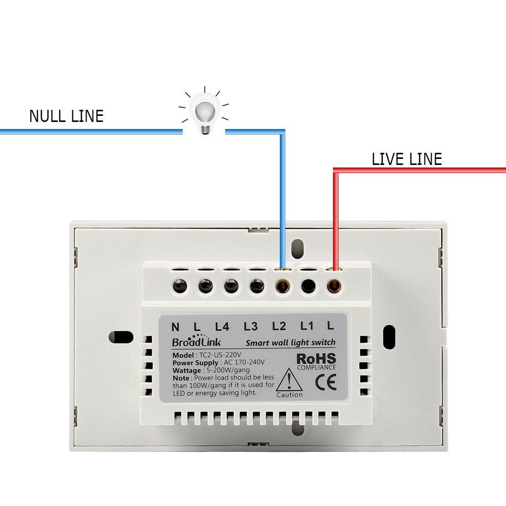 Smart Wall Light Switch Broadlink 220v 1 Gang Touch Panel Wi Fi Led Ac Circuit Diagrams Powered Schematic Enabled Control Glass Crystal White