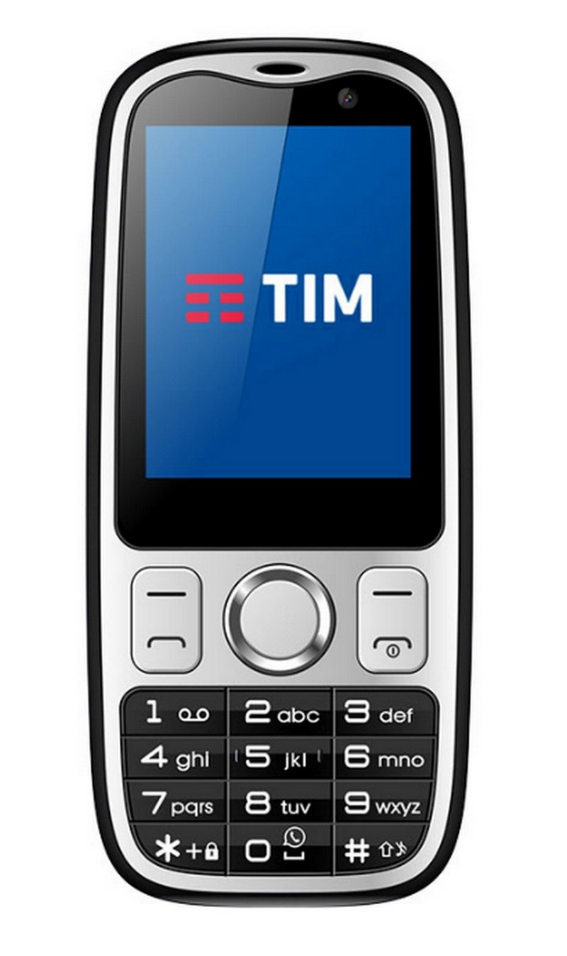 Tim Easy 4G - Teléfono Móvil (Dual-Core 1ghz, Memoria Interna de 2, 512 GB RAM), Color Negro