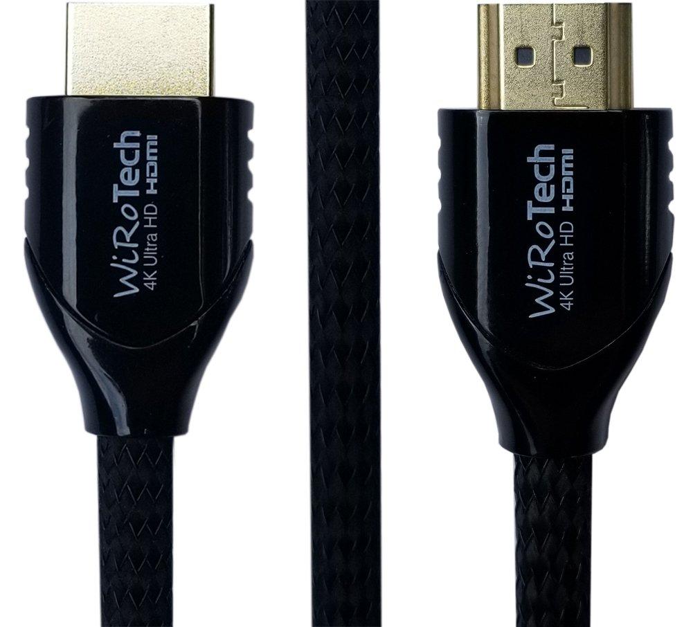 Cable HDMI negro de 10 pies - Listo para HDMI (4K, 60Hz, HDR) - Cable trenzado - Alta velocidad de 18 Gbps - Conectores