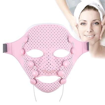 Máscara Facial Skin masajeador Eléctrico EMS vibración belleza masajeador elevación imán antiarrugas spa mascarilla masaje