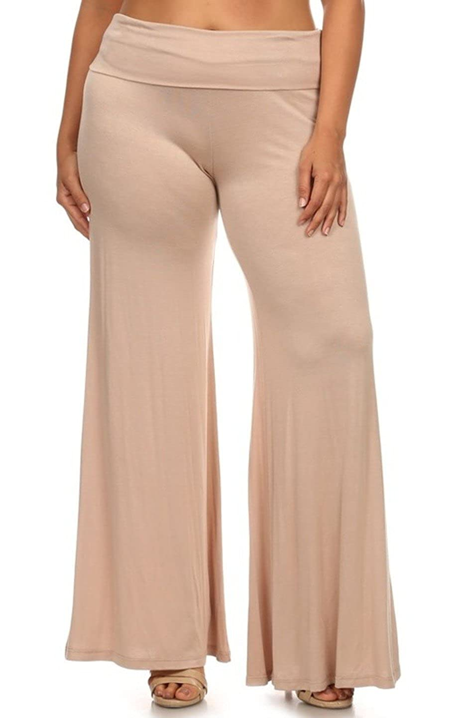 570e7ffc967 Amazon.com  2LUV Plus Women s Printed High Waisted Wide Leg Palazzo Pants   Clothing