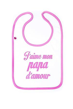 Bb Co J Aime Mon Papa D Amour Babero Amazones Bebé