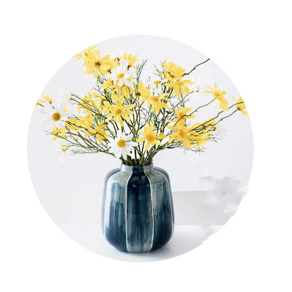 現代のインク染めクリエイティブ花瓶、ヨーロッパのリビングルーム造花セラミック花びん装飾リビングルームの寝室キッチン誕生日結婚式理想的な贈り物,1,D B07QYV9C8T 1 D