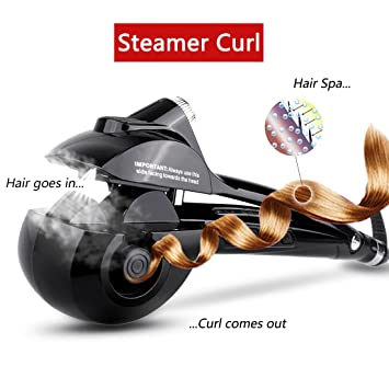 Automatic Hair Steam Curler ARINO Ceramic Hair Curler Professional Curling  Iron Wand Ceramic Curling Flexible Hair