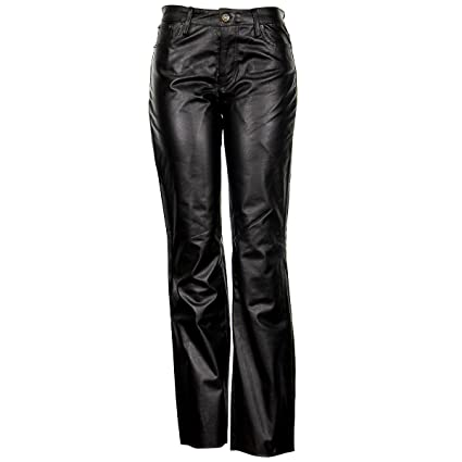 7012ce72a5c3 Amazon.com  Xelement XS679 Women s Black Buffalo Leather Pants - Black   2   Automotive