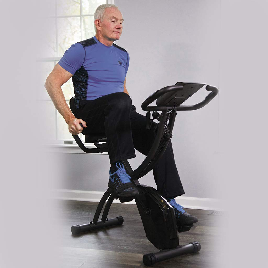 BulbHead Original As Seen On TV Slim Cycle 2-in-1 Stationary Bike Exercise Equipment Transforms from Upright Exercise Bike to Recumbent Bike Perfect for Cardio Training ... (Assembled with Belt) by BulbHead (Image #8)