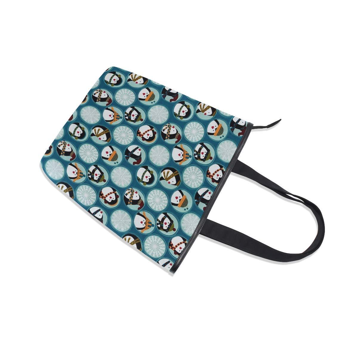Women Large Tote Top Handle Shoulder Bags Penguin /& Friends Satchel Handbag