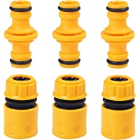 URATOT 6 Pack Garden Hose Quick Connector Hose End Connector Double Male Hose End Connector Extender for Join Garden 1/2 Inch Hose Pipe Tube