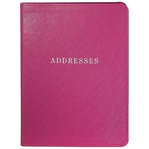 Pink Eco-Leather Address Book Graphic Image™ ()