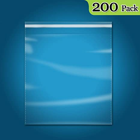 """10"""" X 13"""" Self Seal Clear Cello Cellophane Resealable Plastic 200 Count"""