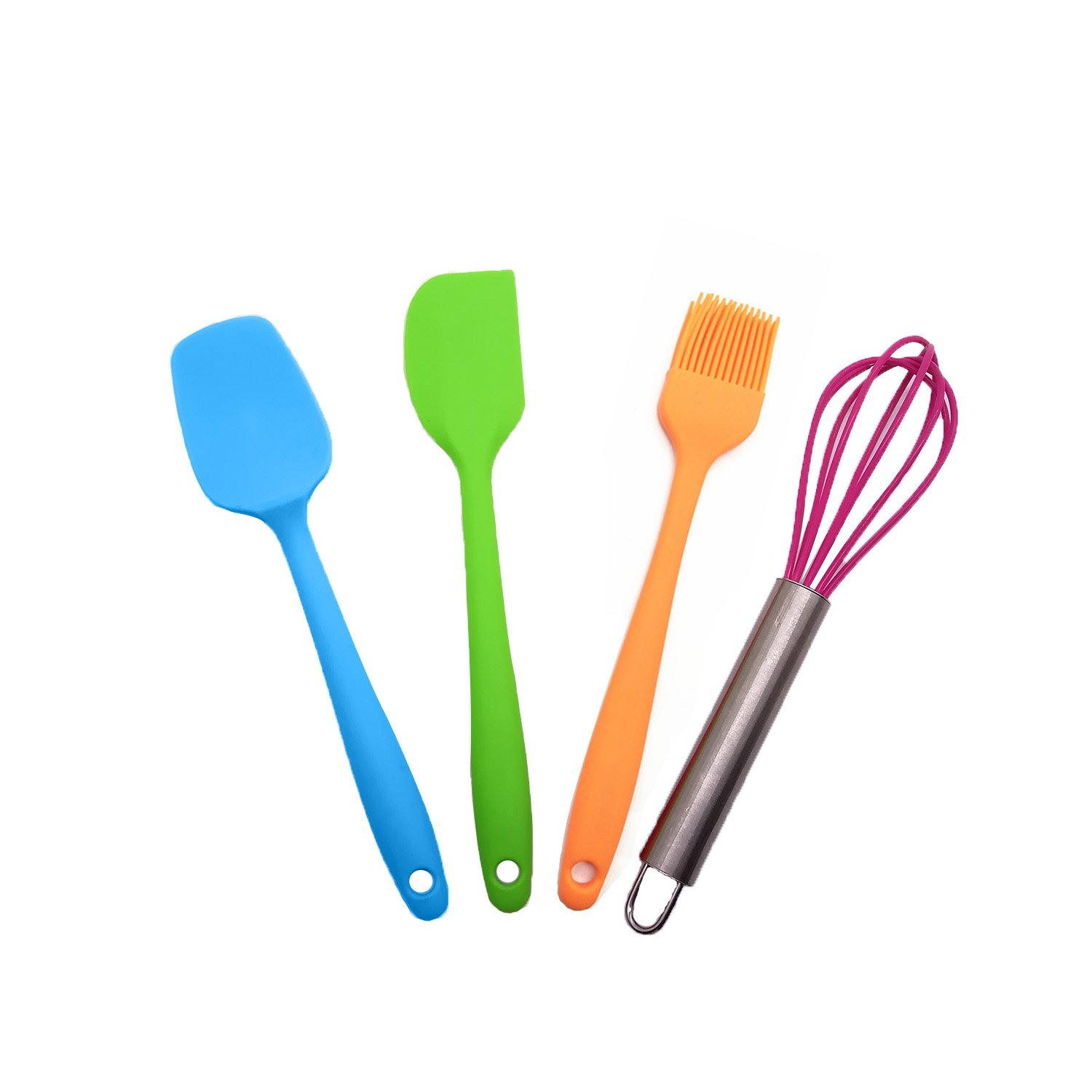 SET OF FOUR MULTI COLORED KITCHEN UTENSILS