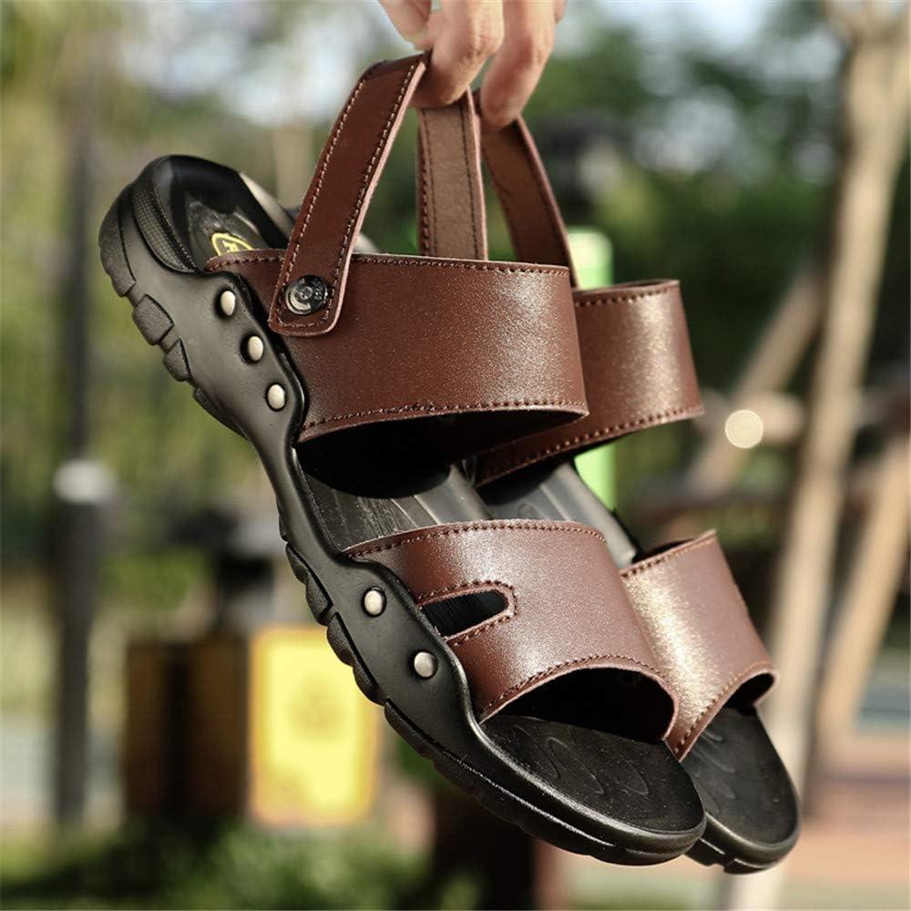 Summer Men Sandals Split Leather Casual Shoes Soft Comfortable Flip Flops Fashion Beach Shoes Plus Big Size