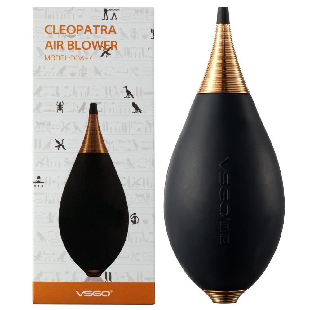 VSGO DDA-7 Cleopatra Air Blower and Dust Blaster for Cleaning Camera Lens, Sensor, Screen and Other Electronics, Black by VSGO