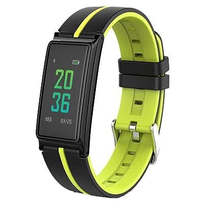 DACHUI Bracelet à puce podomètre/pression artérielle en oxygène du sang/Surveillance de la santé de la famille Sport Écran tactile couleur