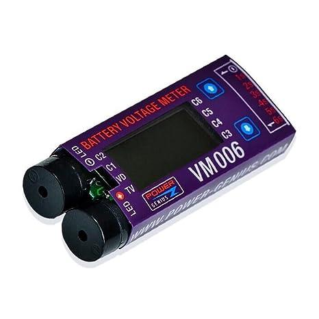 Goolsky Power Genius 1-6S Cells Voltaje de la batería ...