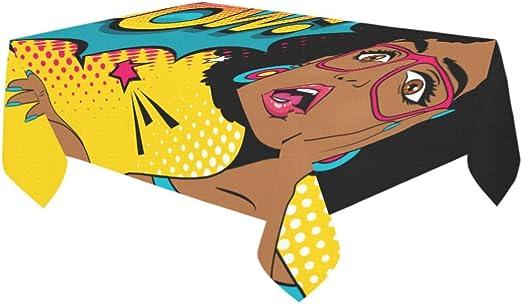 your-fantasia WOW pop art cara funda para mesa mantel de lino y ...