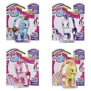 My Little Pony Cutie Mark Magic Rainbow Dash, Rarity, Pinkie Pie & Fluttershy Set of 4 Pony Figures