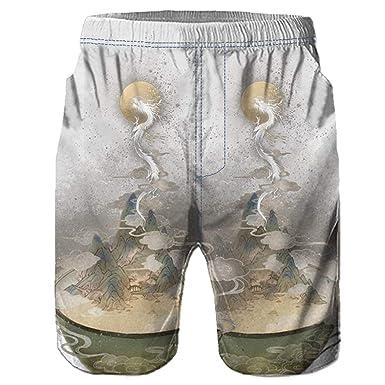 QIMANZI Bañador para Hombre, impresión 3D, pantalón Corto ...