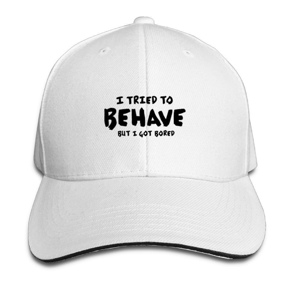 BUSEOTR I Tried to Behave Baseball Caps Adjustable Back Strap Flat Hat