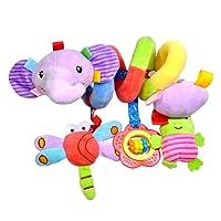 Toymytoy Baby spirale passeggino passeggini giocattoli attività giocattoli appesi carrozzina presepe Wrap Toy (Elephant)