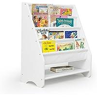 Kids Bookshelf Wooden Canvas Bookcase Storage Display Stand Rack Canvas