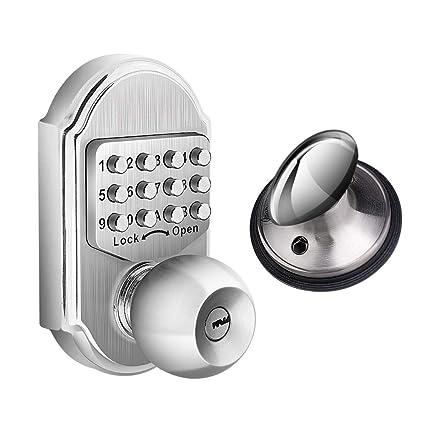 Amazon.com: Elemake - Bloqueo de puerta de entrada sin llave ...