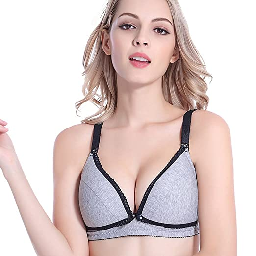 bb8696404794e Befamous Women's Nursing Bra Maternity Sleep Seamless Push up Wireless  Underwear at Amazon Women's Clothing store: