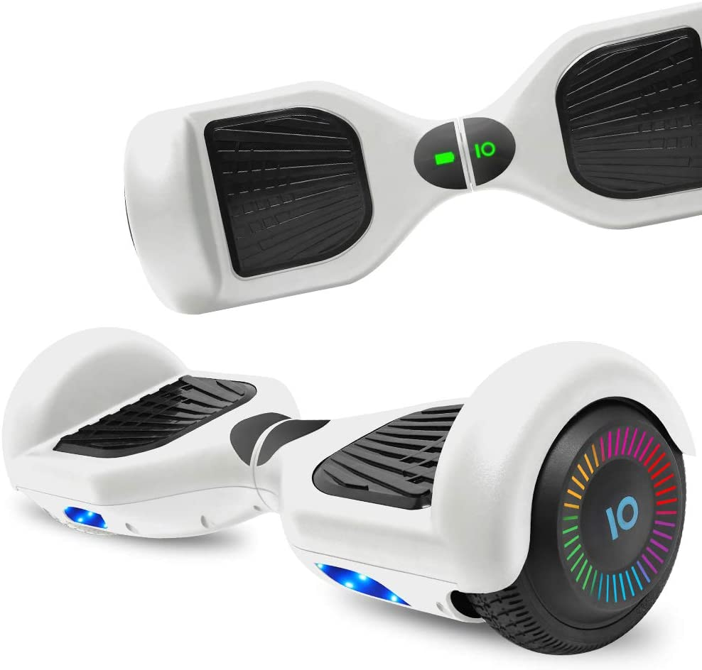 NHT Hoverboard Electric Self Balancing Scooter with Build in Bluetooth Speaker Hover Board LED Lights Safety Certified