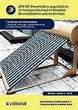 img - for Prevenci n y seguridad en el montaje mec nico e hidr ulico de instalaciones solares t rmicas. ENAE0208 (Spanish Edition) book / textbook / text book