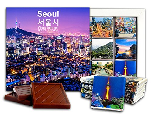 DA CHOCOLATE Candy Souvenir SEOUL Chocolate Gift Set 5x5in 1 box (Panoramic - University Shopping Park