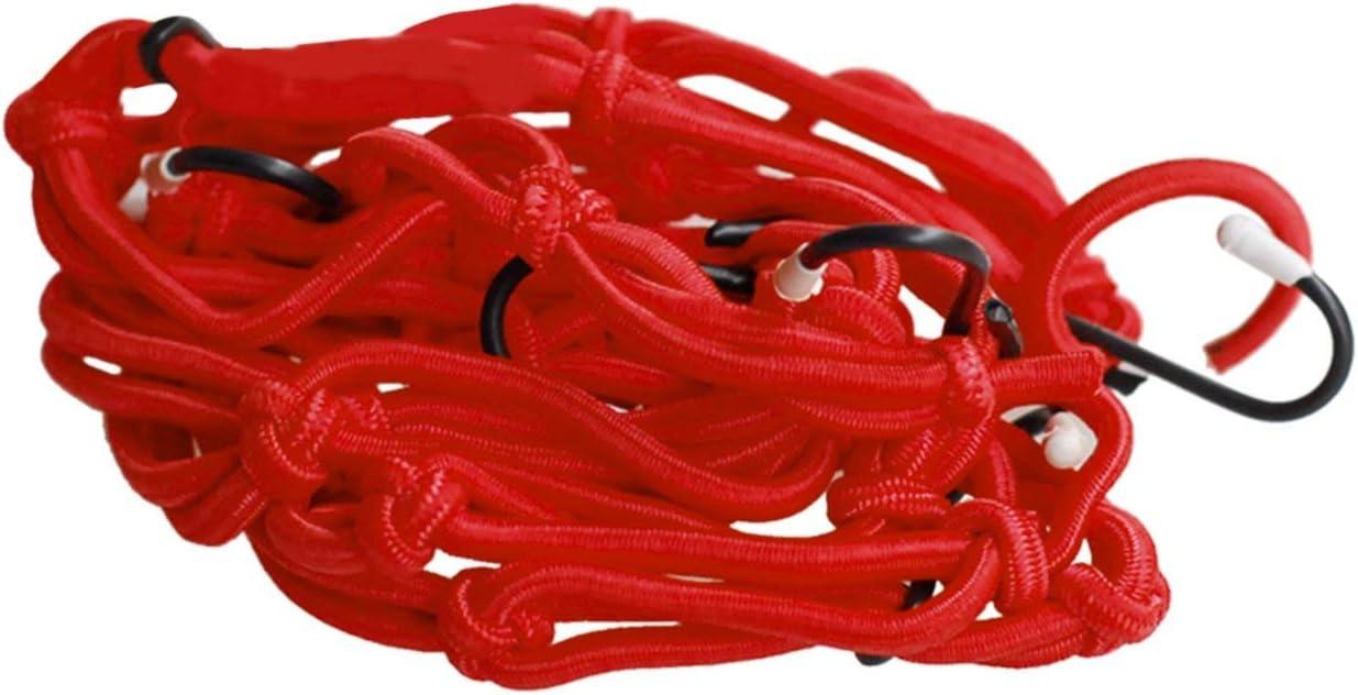 40cm Bagagli in Gomma Elastica Cargo Rete a Rete Accessori per Auto Portabiciclette per Bici da Moto Borsa a Rete Borsa Strumento per Lo Styling Auto 40 Rosso