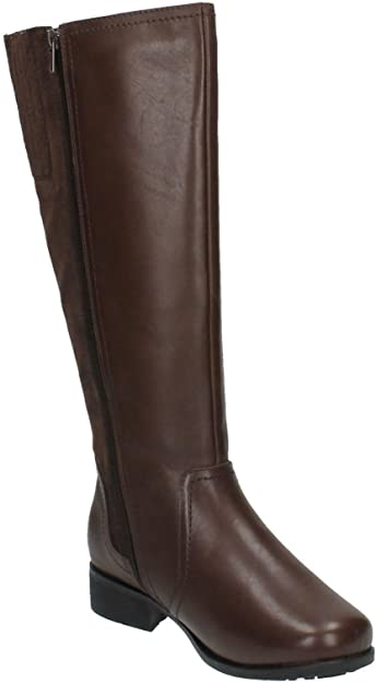 Padders MYRA Ladies Womens Leather Zip Extra Wide Plus Tall Winter Boots Black