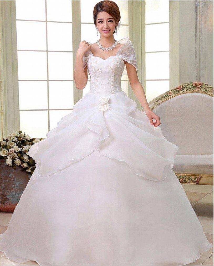 ANG Moderno Vestido de Novia Vestido de Novia Vestido de Novia Vestido Delgado Vestido de Encaje Vestido de Novia,Segundo,XXXL: Amazon.es: Hogar