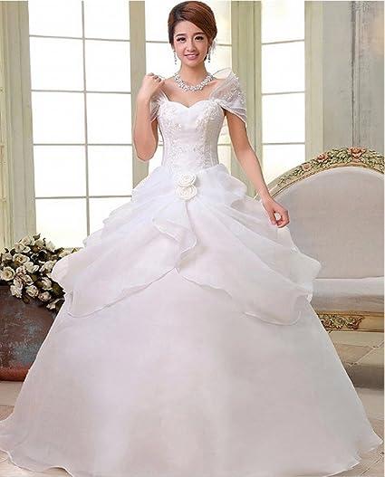 ANG Moderno Vestido de Novia Vestido de Novia Vestido de Novia Vestido Delgado Vestido de Encaje