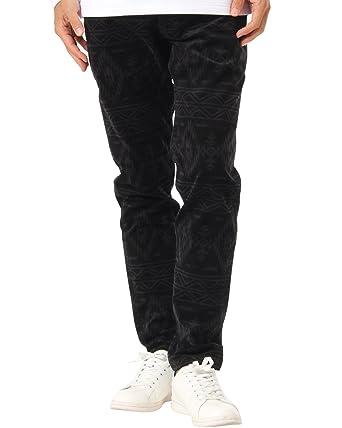 8d4167d6b7965 (ガッチャ ゴルフ) GOTCHA GOLF ロングパンツ オルテガ 総柄 ストレッチ パンツ 173GG1801 ブラック XL