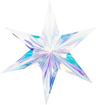 Deko Stern irisierend für Weihnachten Weihnachtsbaum Christbaum Anhänger Fenster