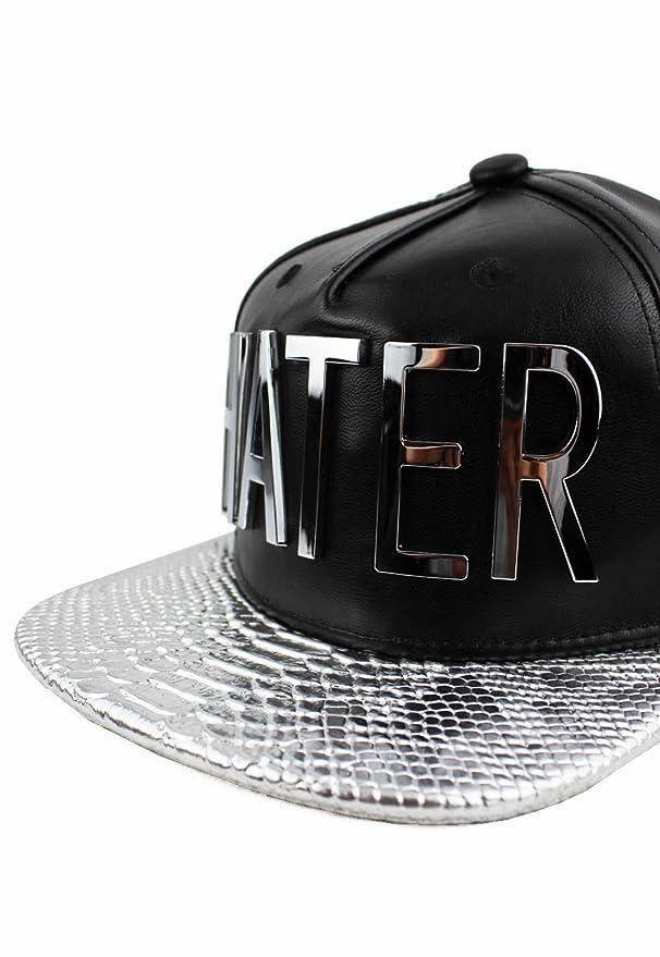 e7a0b3789dc0b Amazon.com   Hater Silver Snakeskin Strapback Hat   Sports   Outdoors