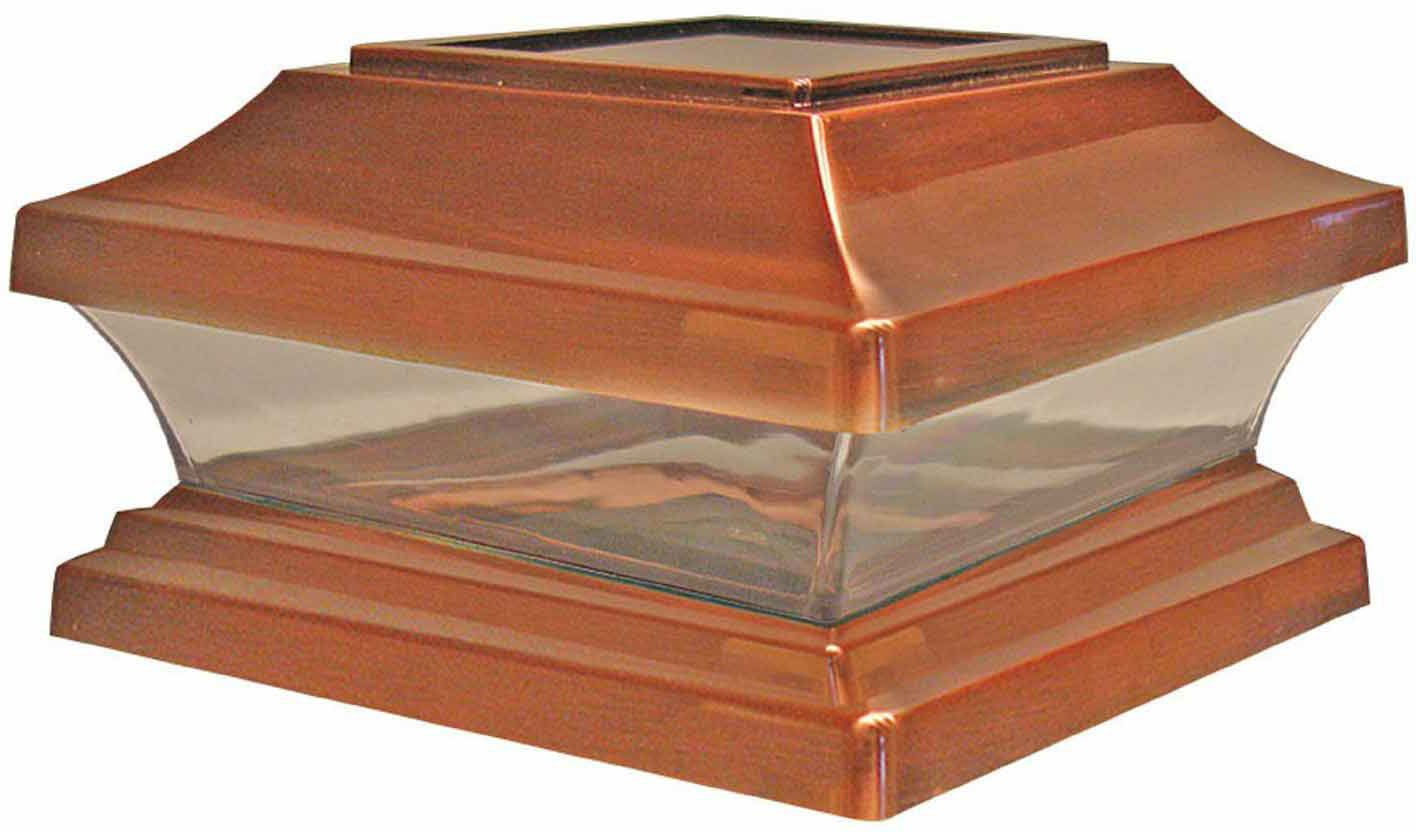 Woodway Products 870.1103 6-by-6-Inch Solar Post Cap, 12-Pack, Copper